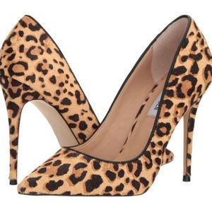 NWT Calvin Klein Leopard Pump Stilletos Fur Shoes
